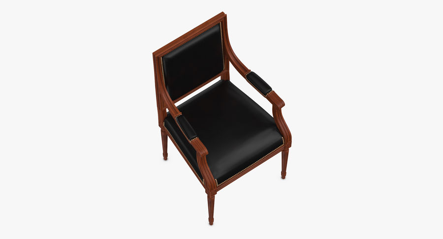 Classical Office Chair royalty-free 3d model - Preview no. 8