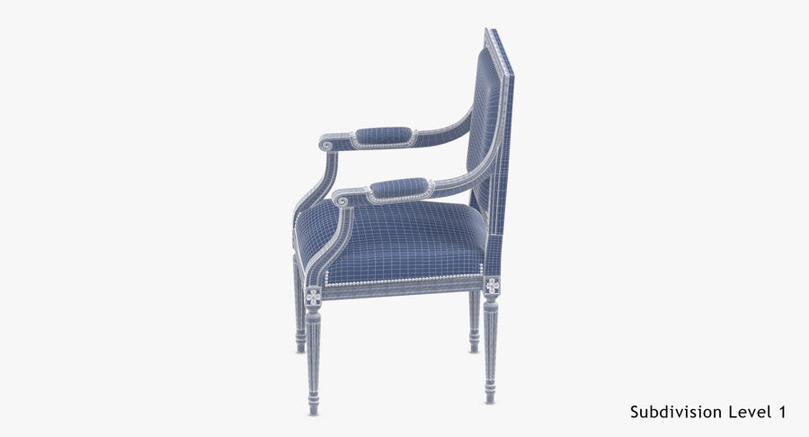 Classical Office Chair royalty-free 3d model - Preview no. 18