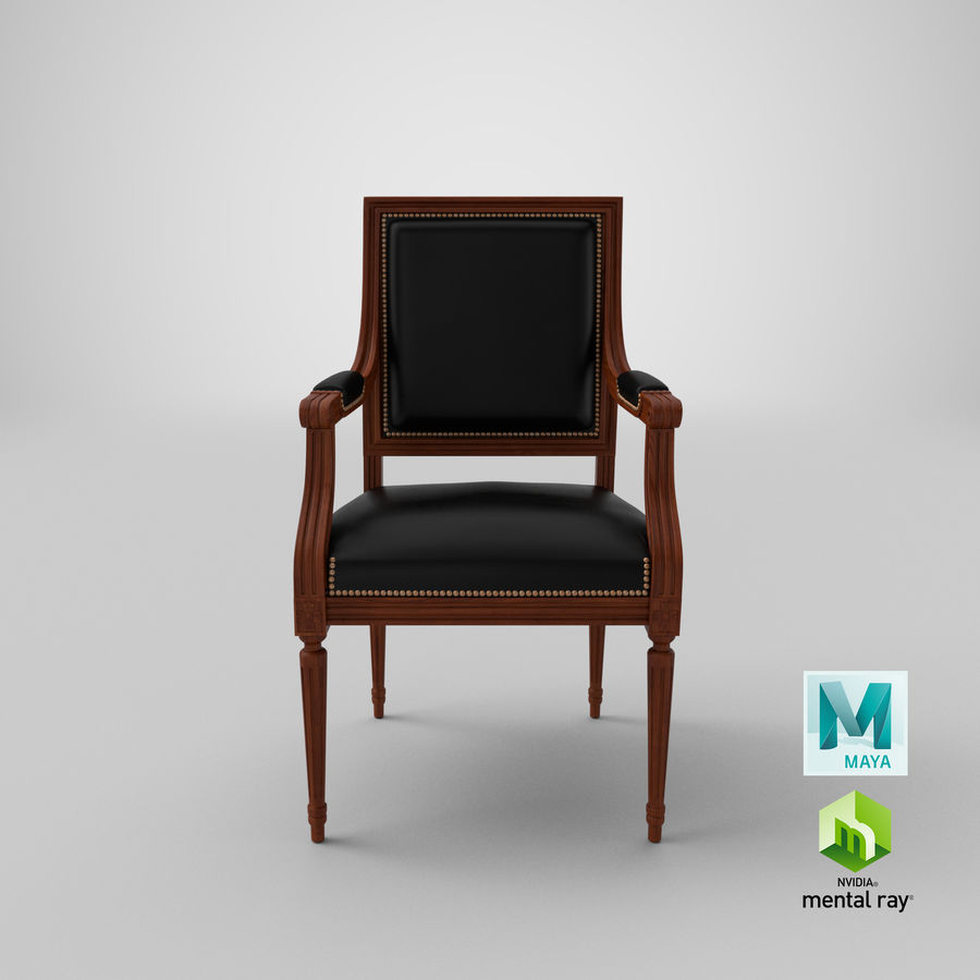 Classical Office Chair royalty-free 3d model - Preview no. 21
