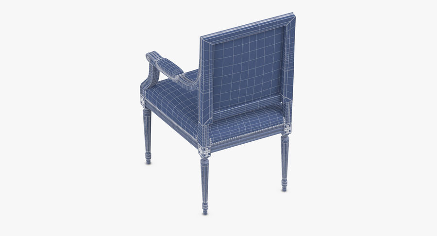 Classical Office Chair royalty-free 3d model - Preview no. 16