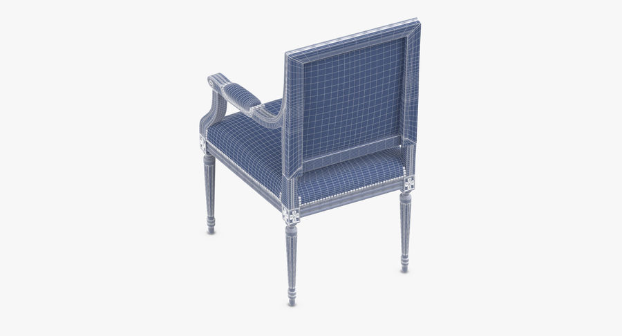 Classical Office Chair royalty-free 3d model - Preview no. 11