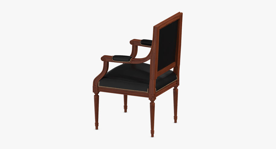 Classical Office Chair royalty-free 3d model - Preview no. 7