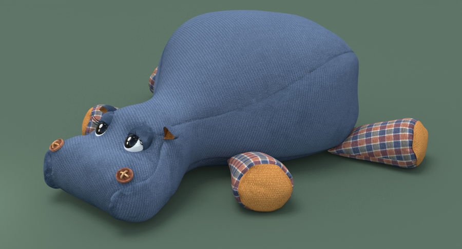 Hippo-Spielzeug royalty-free 3d model - Preview no. 3