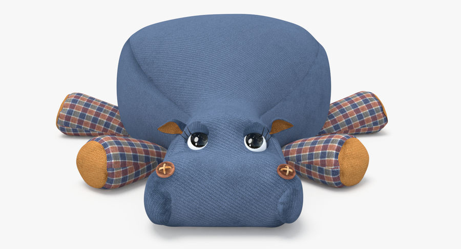 Hippo-Spielzeug royalty-free 3d model - Preview no. 5