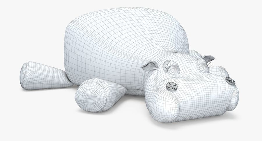 Hippo-Spielzeug royalty-free 3d model - Preview no. 27