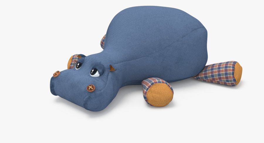 Hippo-Spielzeug royalty-free 3d model - Preview no. 2