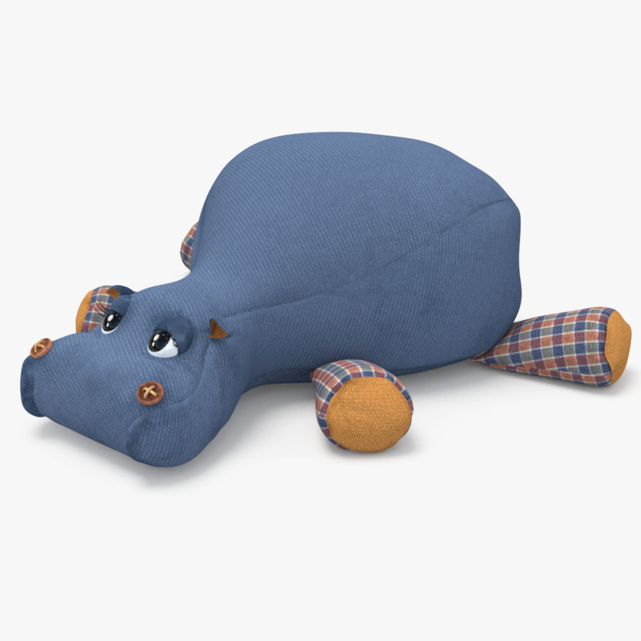 Hippo-Spielzeug royalty-free 3d model - Preview no. 4