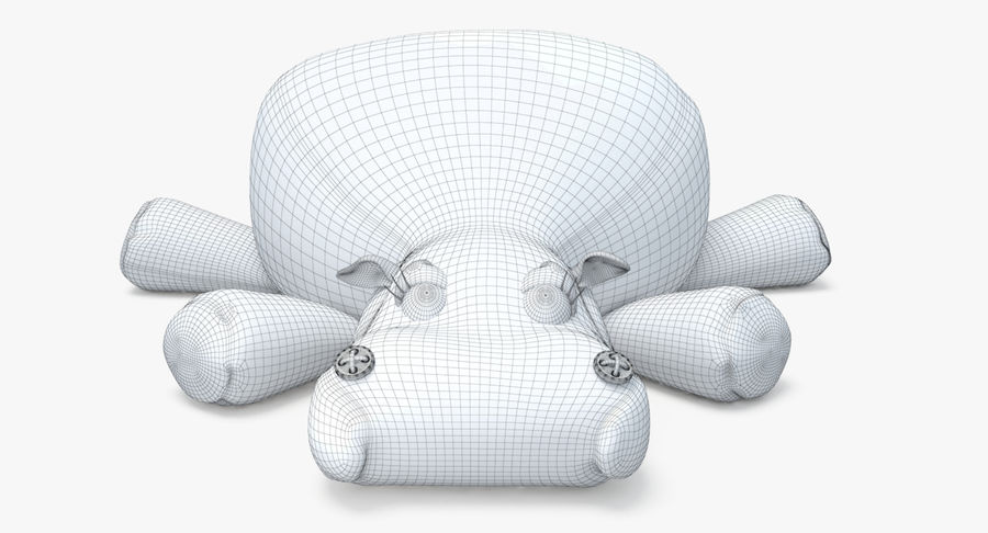 Hippo-Spielzeug royalty-free 3d model - Preview no. 25