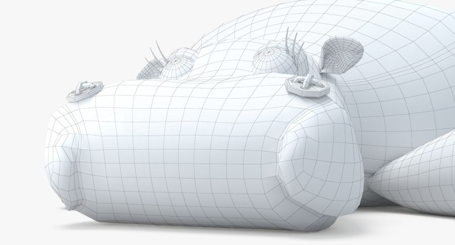 Hippo-Spielzeug royalty-free 3d model - Preview no. 24