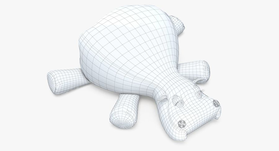 Hippo-Spielzeug royalty-free 3d model - Preview no. 21