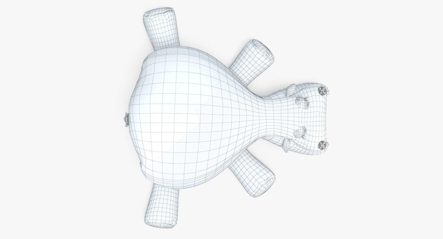 Hippo-Spielzeug royalty-free 3d model - Preview no. 22