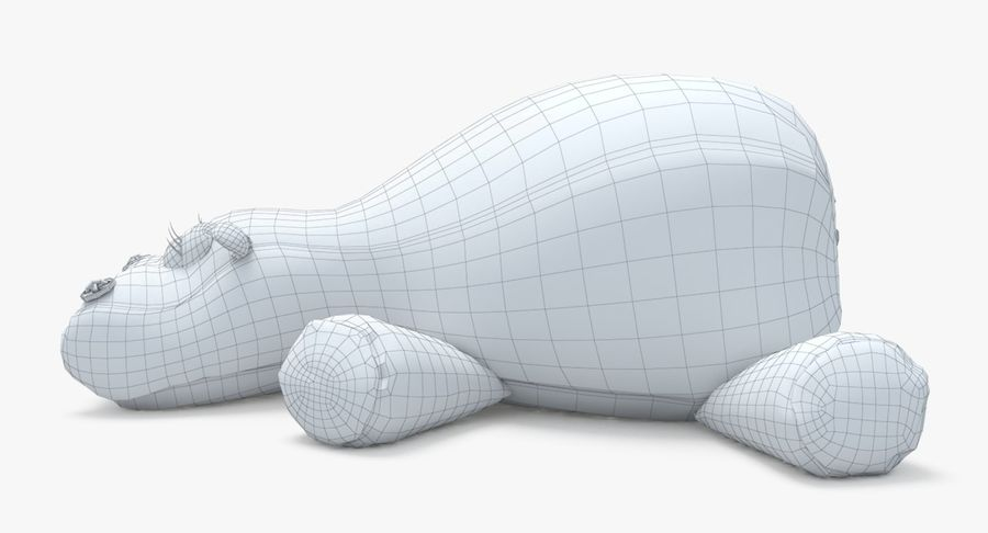 Hippo-Spielzeug royalty-free 3d model - Preview no. 17
