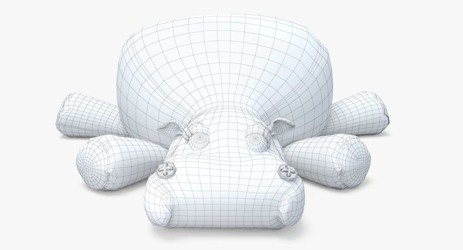 Hippo-Spielzeug royalty-free 3d model - Preview no. 16