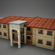 Tropical Latin Mexican Beach medium building 3d model