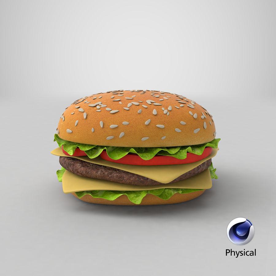 치즈 버거 2 royalty-free 3d model - Preview no. 20