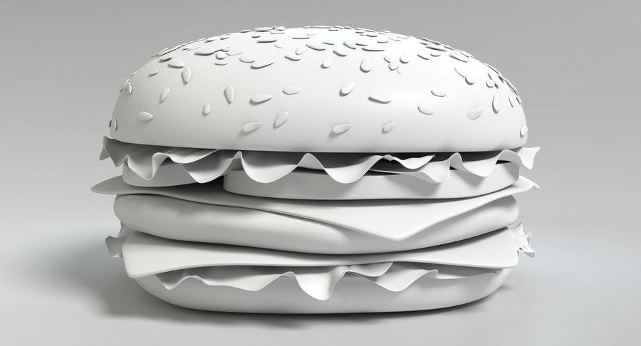 치즈 버거 2 royalty-free 3d model - Preview no. 12
