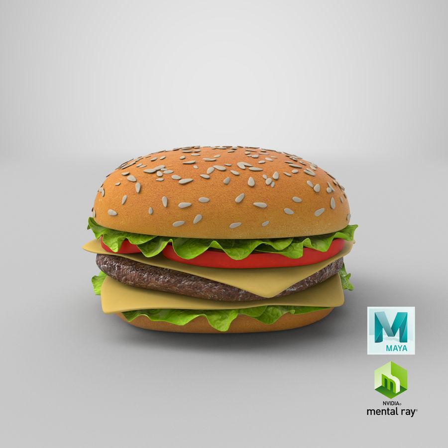 치즈 버거 2 royalty-free 3d model - Preview no. 17