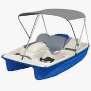 Gölgelikli Pedallı Tekne 3d model