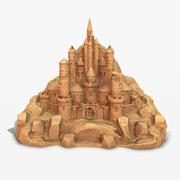 Zamek z piasku PBR 3d model