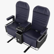 First Class Airplane Chair 01 3d model
