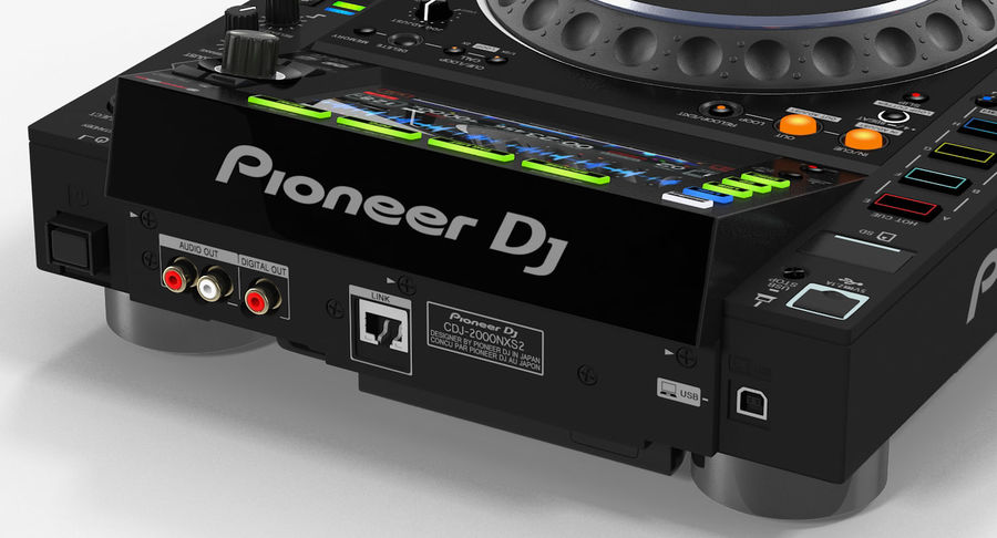 Tabletop DJ Player Pioneer CDJ 2000NXS2 royalty-free 3d model - Preview no. 14