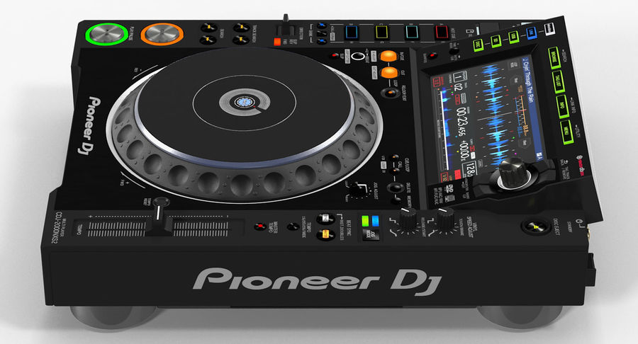 Tabletop DJ Player Pioneer CDJ 2000NXS2 royalty-free 3d model - Preview no. 10
