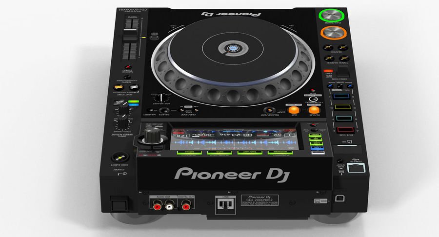 Tabletop DJ Player Pioneer CDJ 2000NXS2 royalty-free 3d model - Preview no. 7