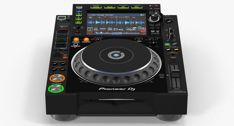 Tabletop DJ Player Pioneer CDJ 2000NXS2 royalty-free 3d model - Preview no. 2