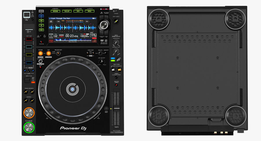 Tabletop DJ Player Pioneer CDJ 2000NXS2 royalty-free 3d model - Preview no. 11