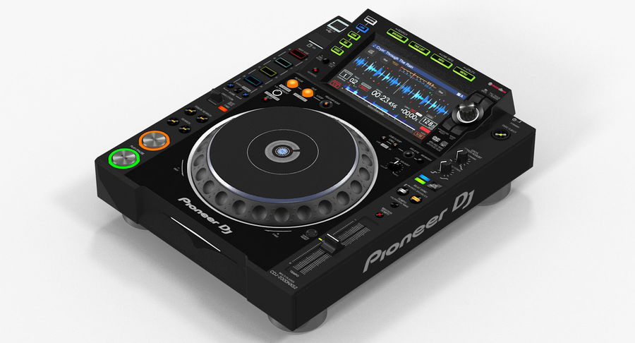 Tabletop DJ Player Pioneer CDJ 2000NXS2 royalty-free 3d model - Preview no. 3