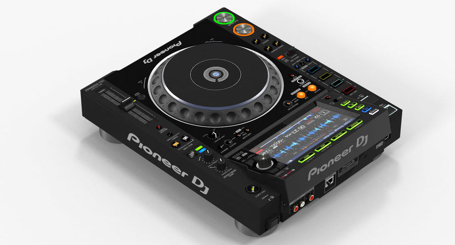 Tabletop DJ Player Pioneer CDJ 2000NXS2 royalty-free 3d model - Preview no. 4