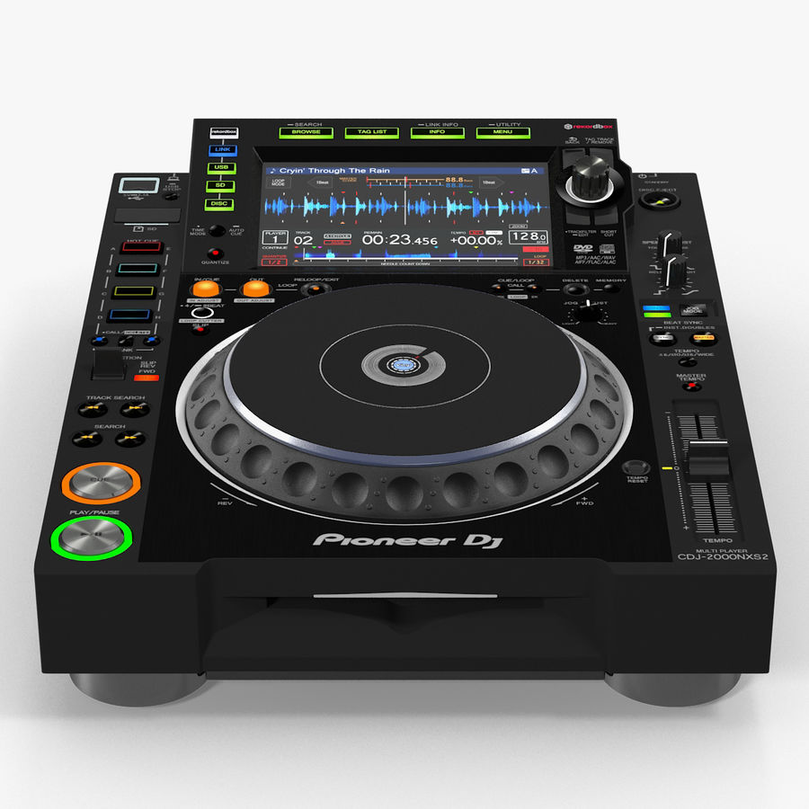 Tabletop DJ Player Pioneer CDJ 2000NXS2 royalty-free 3d model - Preview no. 1