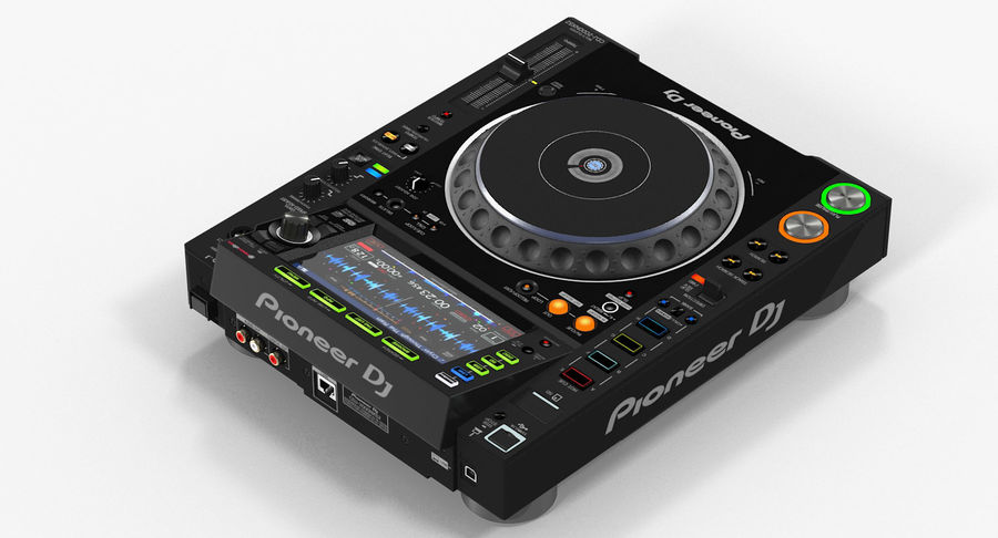 Tabletop DJ Player Pioneer CDJ 2000NXS2 royalty-free 3d model - Preview no. 6