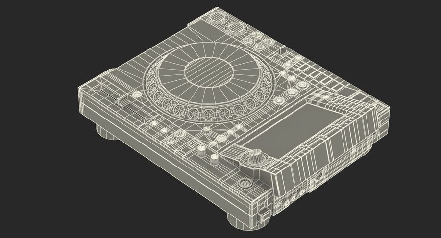 Tabletop DJ Player Pioneer CDJ 2000NXS2 royalty-free 3d model - Preview no. 24