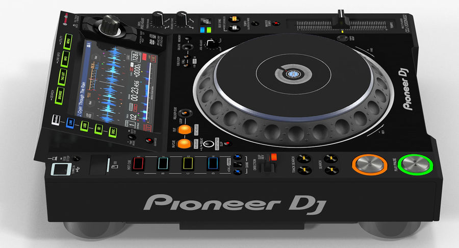Tabletop DJ Player Pioneer CDJ 2000NXS2 royalty-free 3d model - Preview no. 9