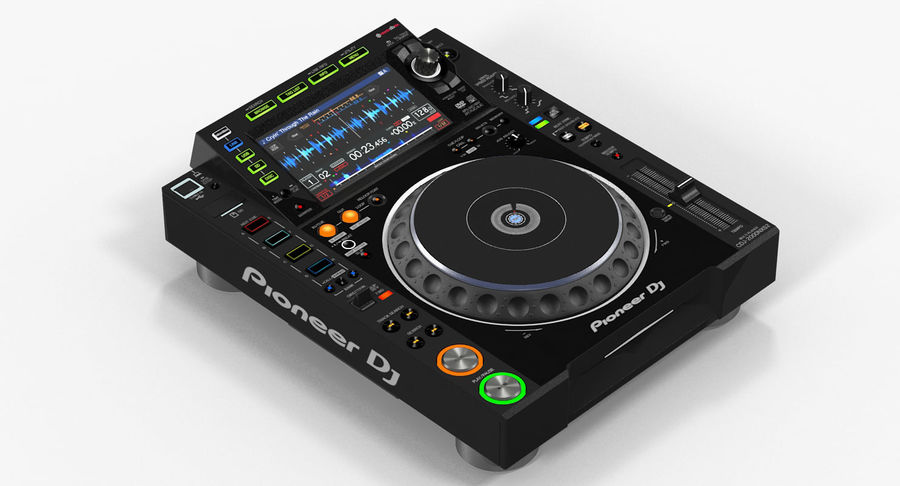 Tabletop DJ Player Pioneer CDJ 2000NXS2 royalty-free 3d model - Preview no. 5