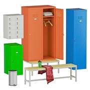 Locker room set 3d model
