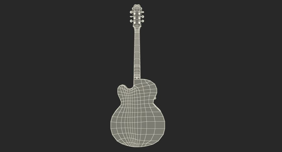 Electro Acoustic Guitar Epiphone royalty-free 3d model - Preview no. 23