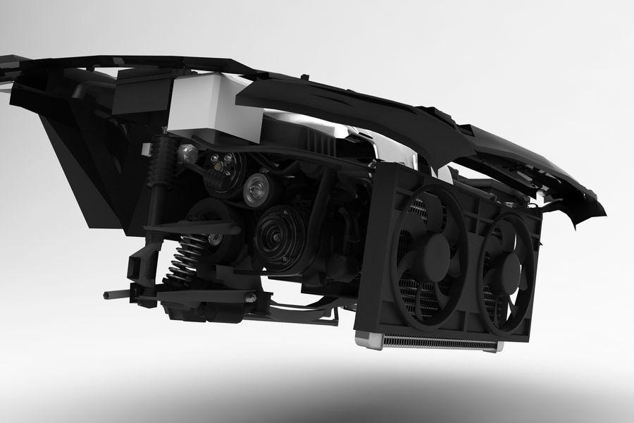 Двигатель автомобиля Peugeot royalty-free 3d model - Preview no. 3