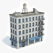 Apartment Building 24 3d model