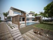 High Quality Modern House Club House with swimming pool 3d model