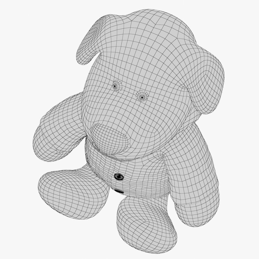 Dog toy 03 royalty-free 3d model - Preview no. 11
