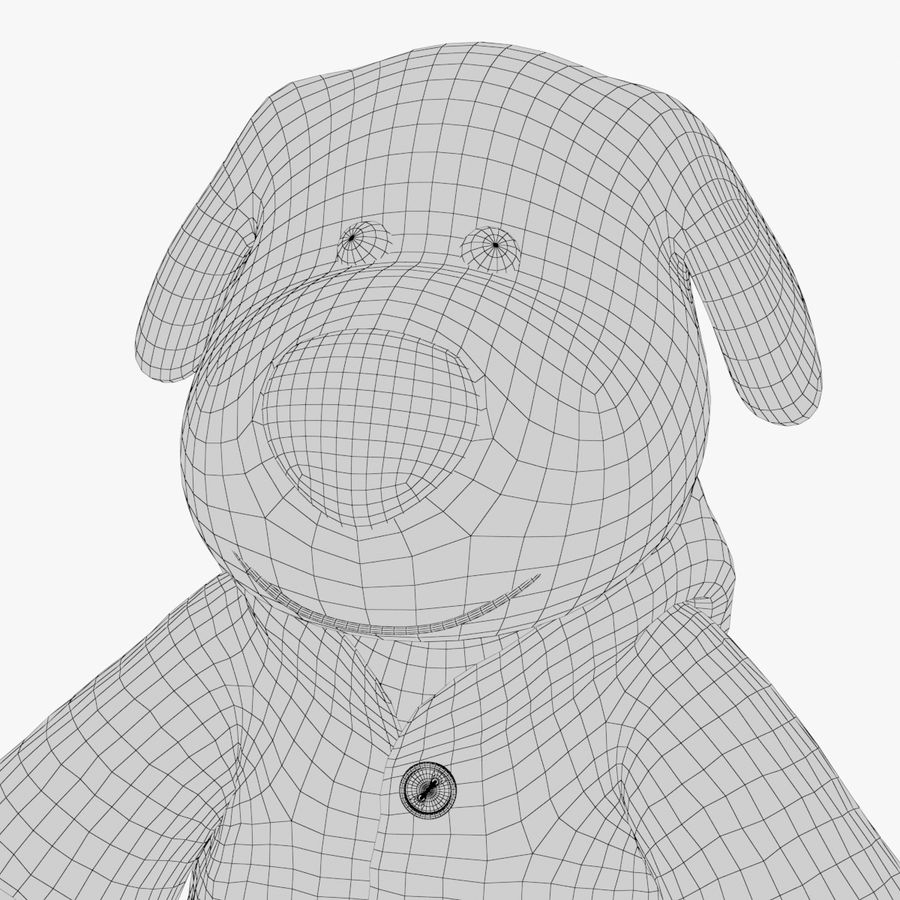 Dog toy 03 royalty-free 3d model - Preview no. 12