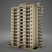 BIG Tropical Latin Latin Beach Tower Hotel Hacienda 3d model