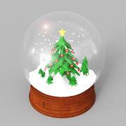 Globe de Noël de neige 3d model