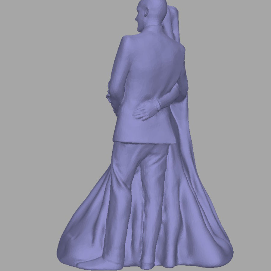 Couple 192, scan royalty-free 3d model - Preview no. 2