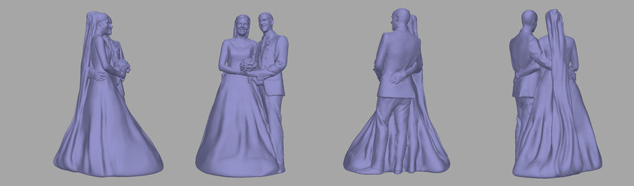Couple 192, scan royalty-free 3d model - Preview no. 5