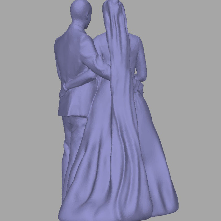 Couple 192, scan royalty-free 3d model - Preview no. 3