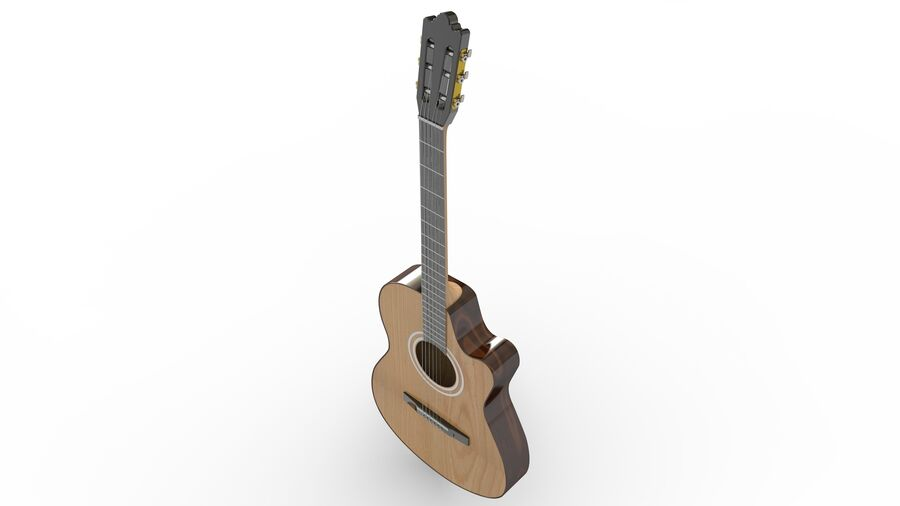 Classic Guitar royalty-free 3d model - Preview no. 8