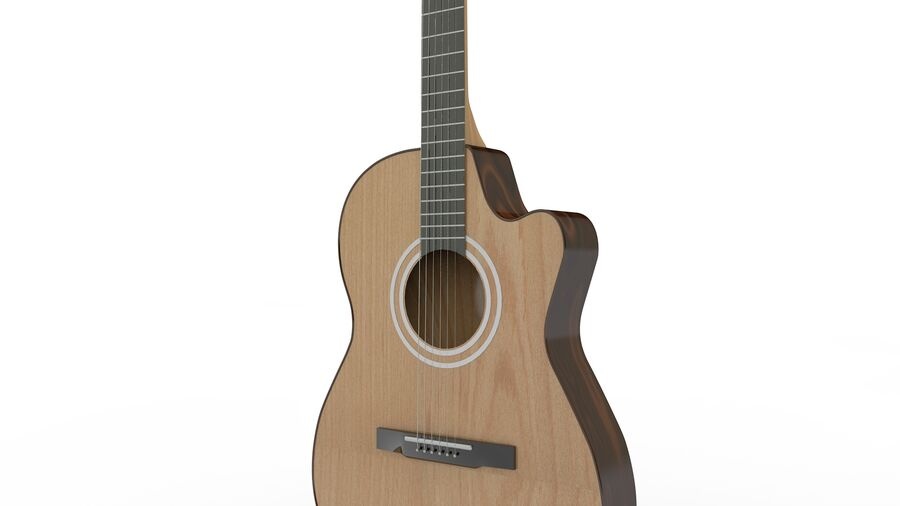 Classic Guitar royalty-free 3d model - Preview no. 11